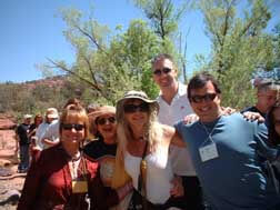 a group of happy people on a Sedona Hiking tour