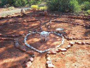 medicine wheel on the red rocks of sedona on a combo tour