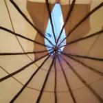 tipi looking up
